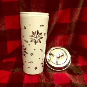 Limited Edition VS Pink snowflake thermos